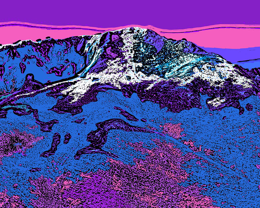 Pikes Peak - Colorado Digital Art