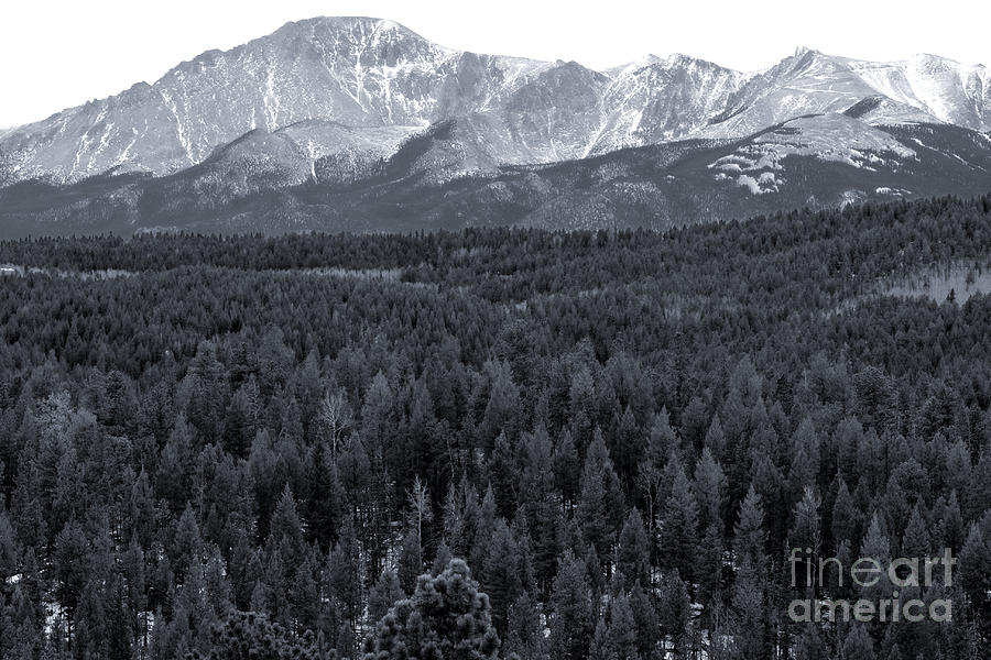 Pikes Peak From The Lovell Gulch Hiking Trail Photograph