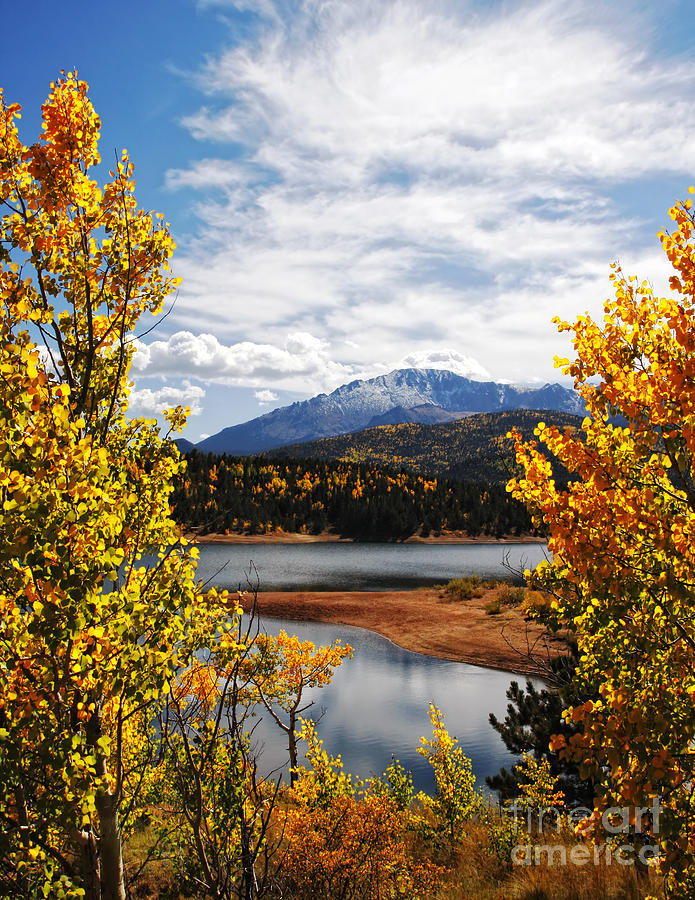 Pikes Peak Photograph - Pikes Peak in Autumn by Lincoln Rogers
