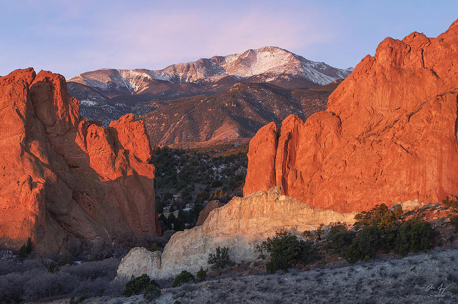 Pikes Photograph - Pikes Peak Sunrise by Aaron Spong
