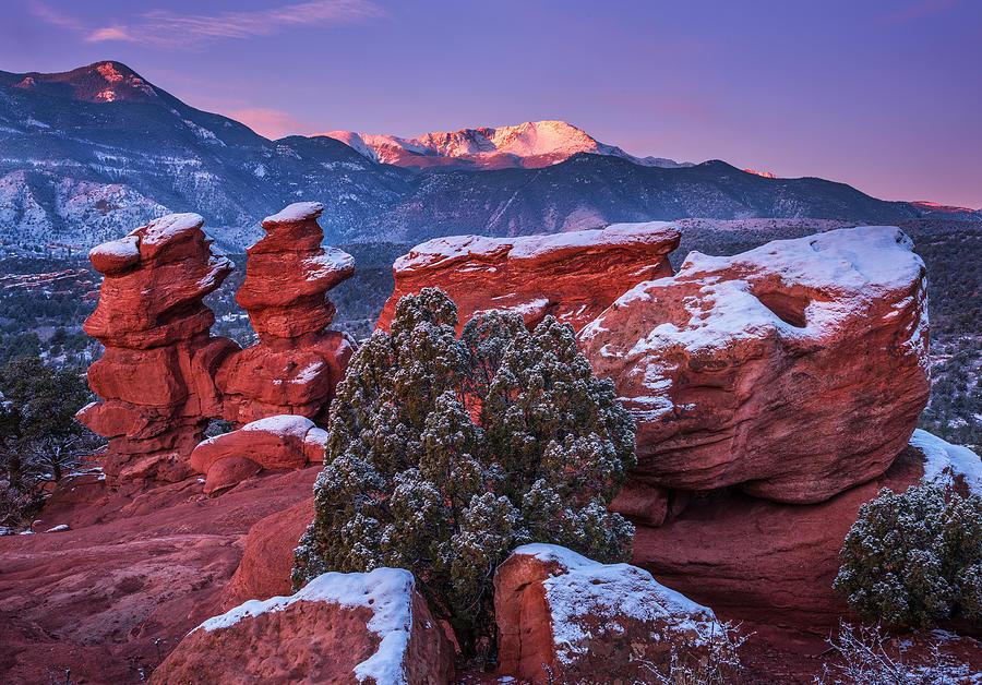 Pikes Peak Sunrise Photograph