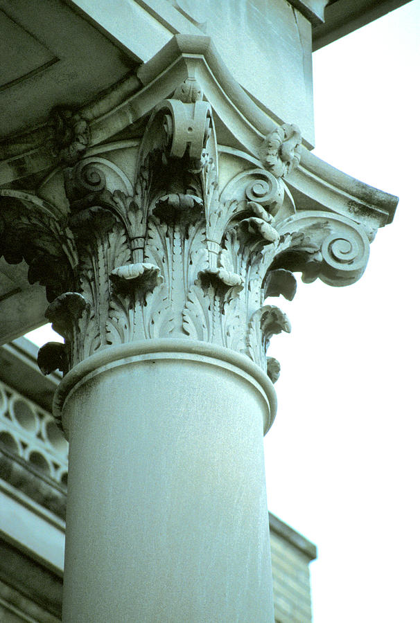 Column Capital Photograph - Pilar Of Strength  by Jon Neidert