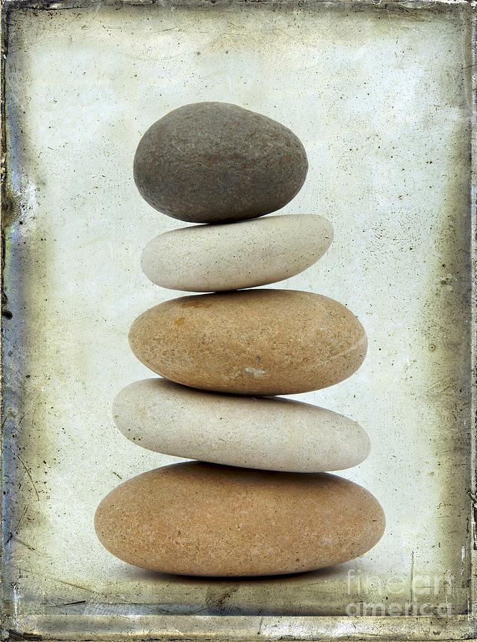 Cut Out Photograph - Pile Of Pebbles by Bernard Jaubert