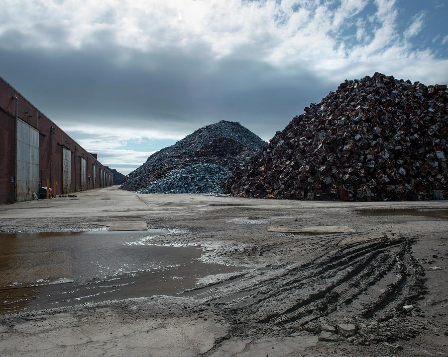 Scrap Photograph - Piles Of Scrap Metal by Robert Brook