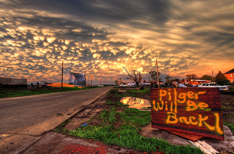 Tornado Photograph - Pilger Will Be Back by Chris Allington