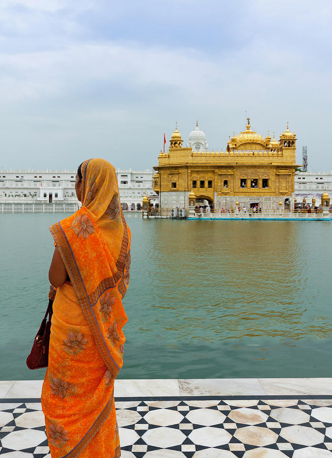 Pilgrim In Golden Temple Amritsar, India Photograph by Prognone