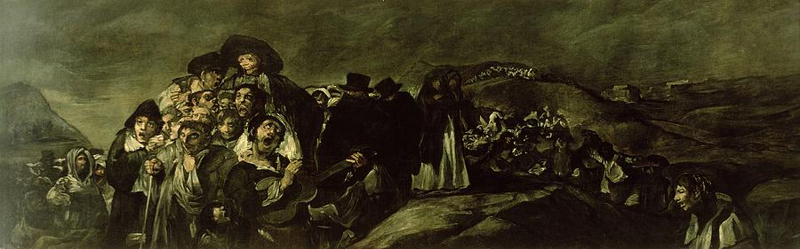 Suffering Photograph - Pilgrimage To San Isidros Fountain, C.18213 Oil On Canvas by Francisco Jose de Goya y Lucientes