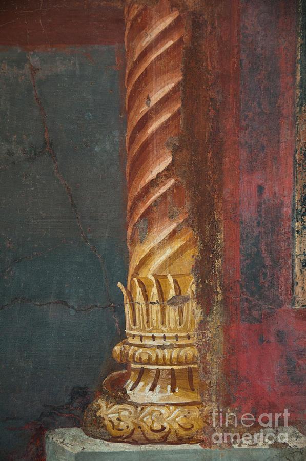 Pompeii Photograph - Pillar by Marion Galt
