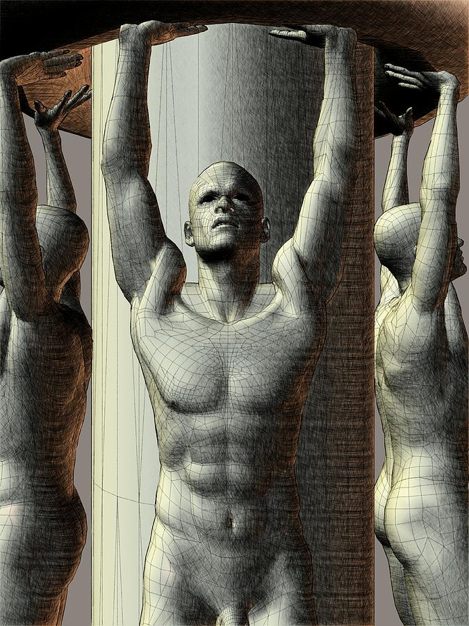 a142efcb61f9 Pillar Men Digital Art by Peter Cochran