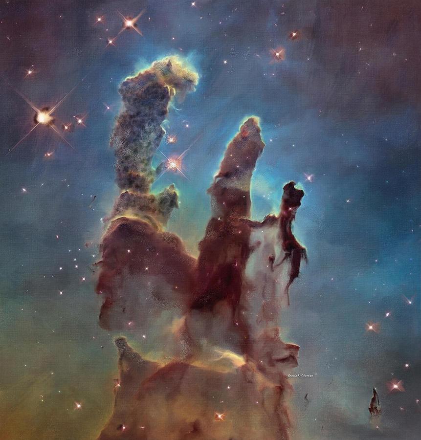 Pillards Of Dust The Eagle Nebula Painting