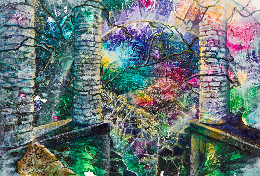 Paradise Painting - Pillars At The Edge Of The World by Patricia Allingham Carlson
