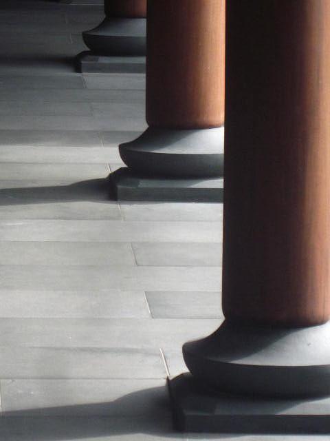 Wood Pillar Photograph - Pillars by Cherie Sexsmith