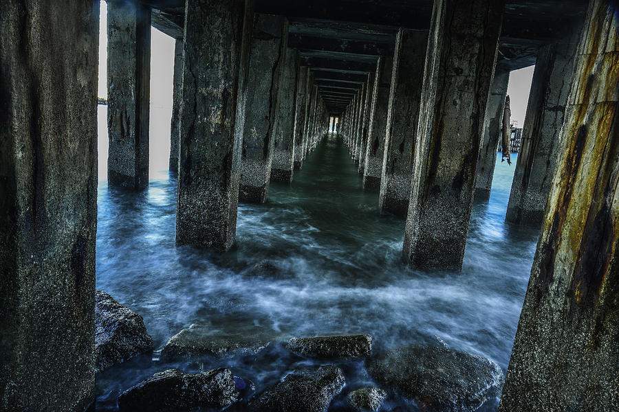 Long Exposure Photograph - Pillars In San Francisco California... by Israel Marino