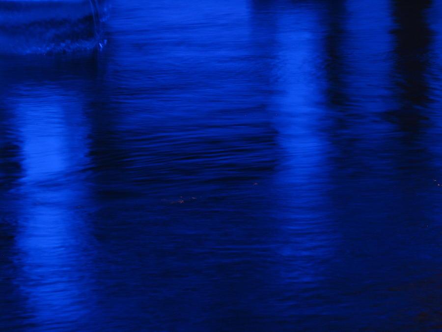 Reflections Photograph - Pillars Of Blue by Jason Denis