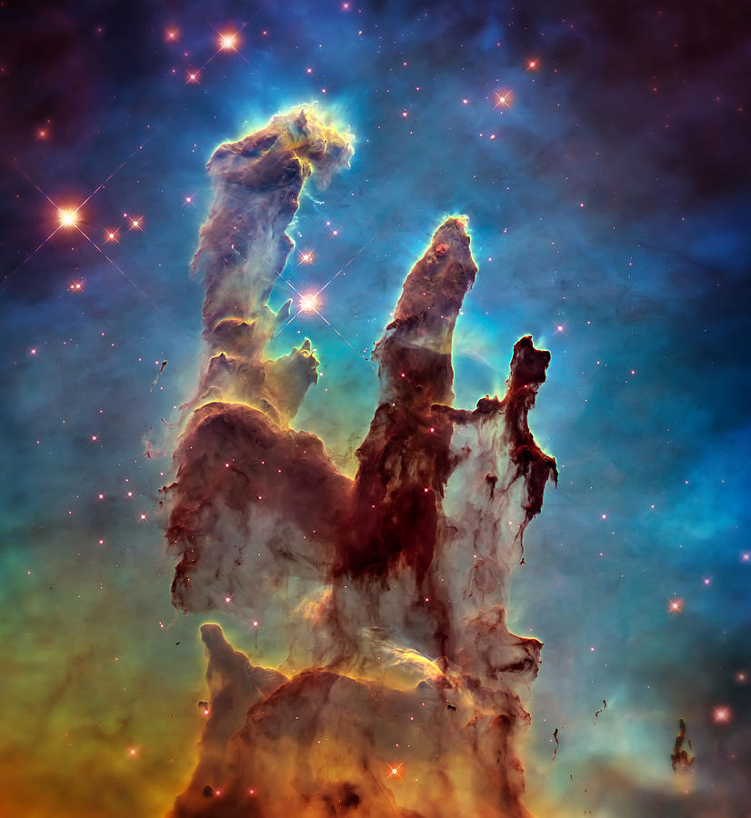 Pillars Of Creation Photograph - Pillars Of Creation In High Definition - Eagle Nebula by Jennifer Rondinelli Reilly - Fine Art Photography