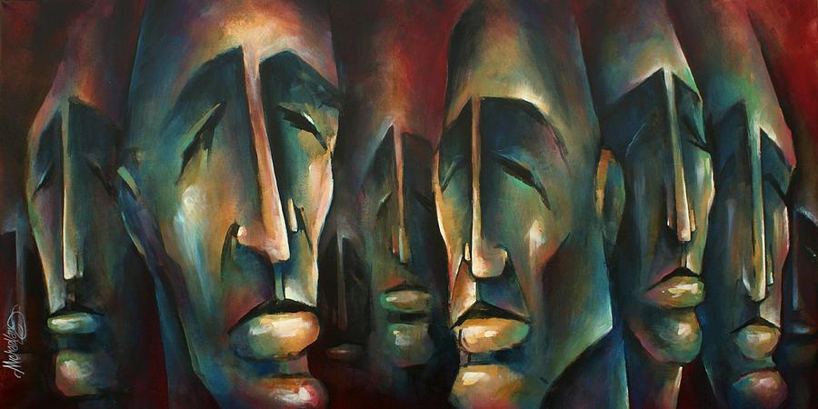 Urban Painting - Pillars of Deceit by Michael Lang