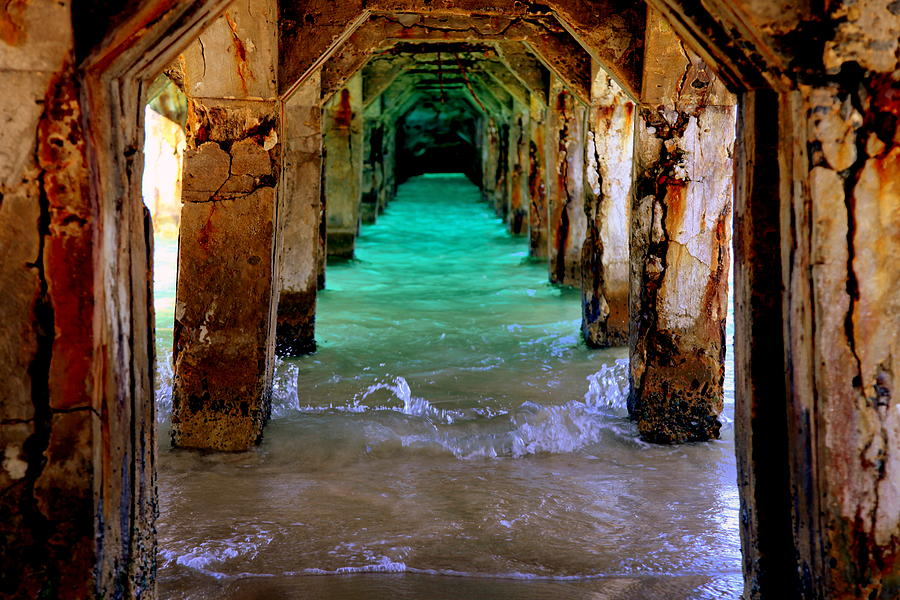 Waterscapes Photograph - Pillars Of Time by Karen Wiles