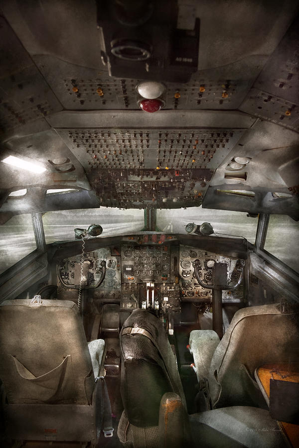 Pilot Photograph - Pilot - Boeing 707  - Cockpit - We Need A Pilot Or Two by Mike Savad
