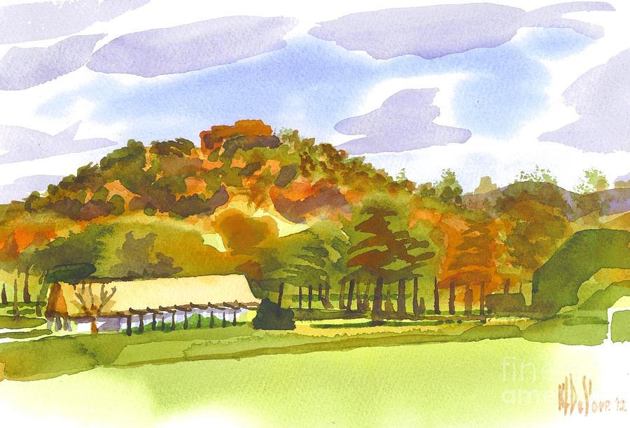 Kipdevore Painting - Pilot Knob Mountain by Kip DeVore