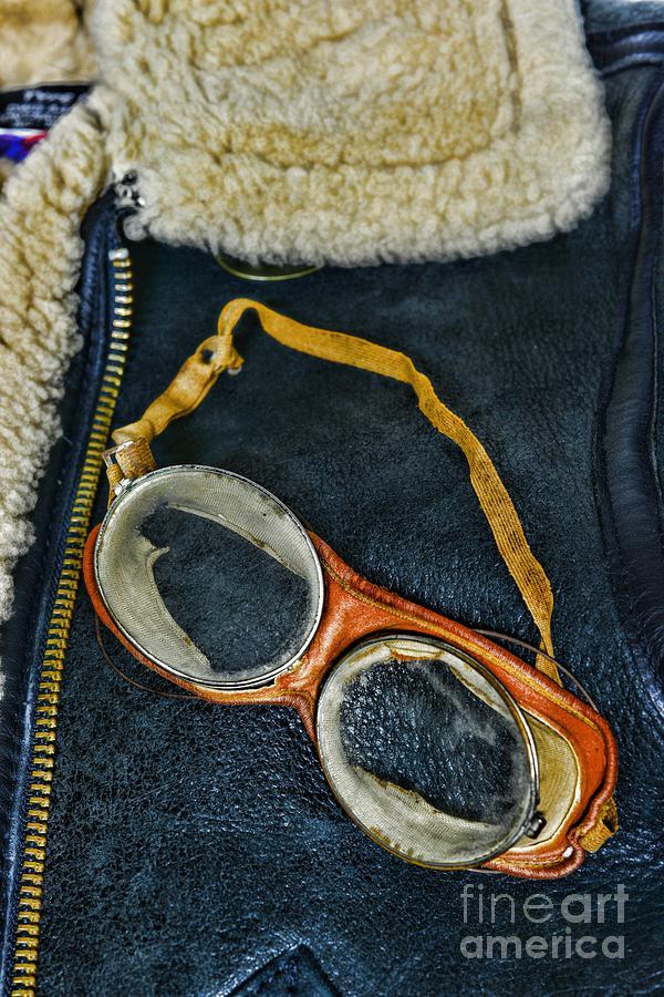 Paul Ward Photograph - Pilot - Vintage Aviation Goggles by Paul Ward