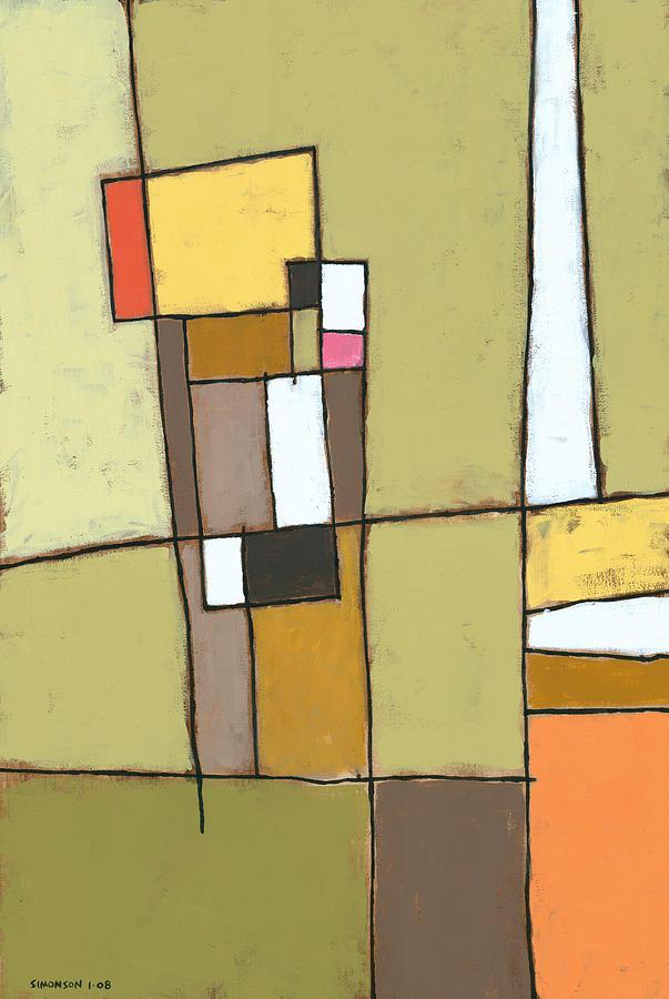 Abstract Painting - Pimento by Douglas Simonson