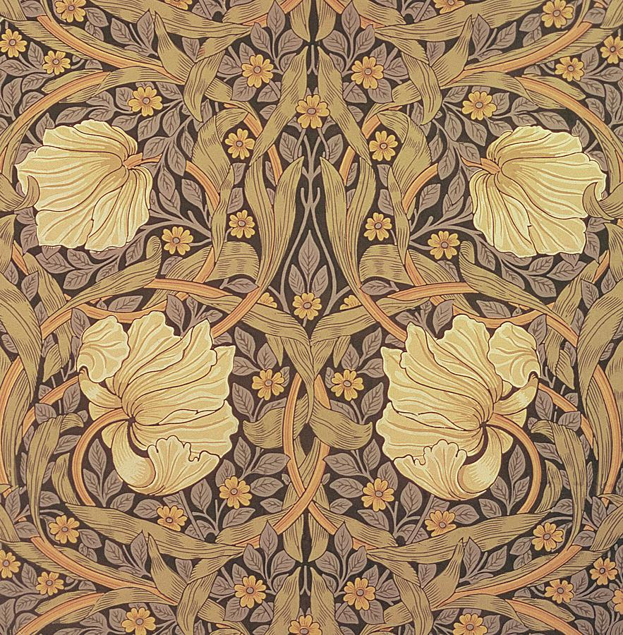Pimpernel wallpaper design tapestry textile by william for Wallpaper prints patterns