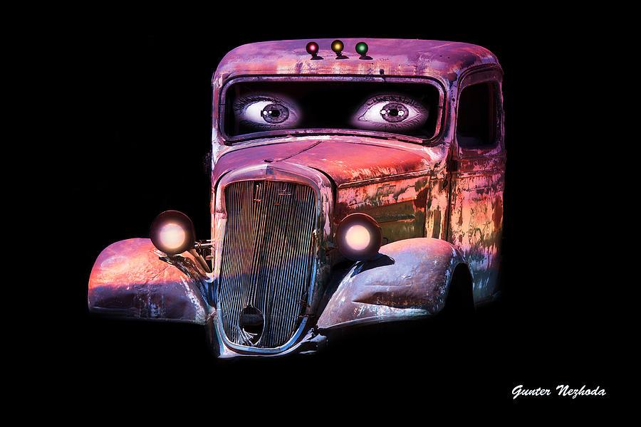 Digital Photograph - Pin Up Cars - #3 by Gunter Nezhoda