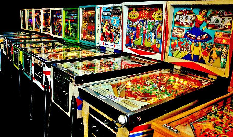 Pinball Photograph - Pinball Alley by Benjamin Yeager
