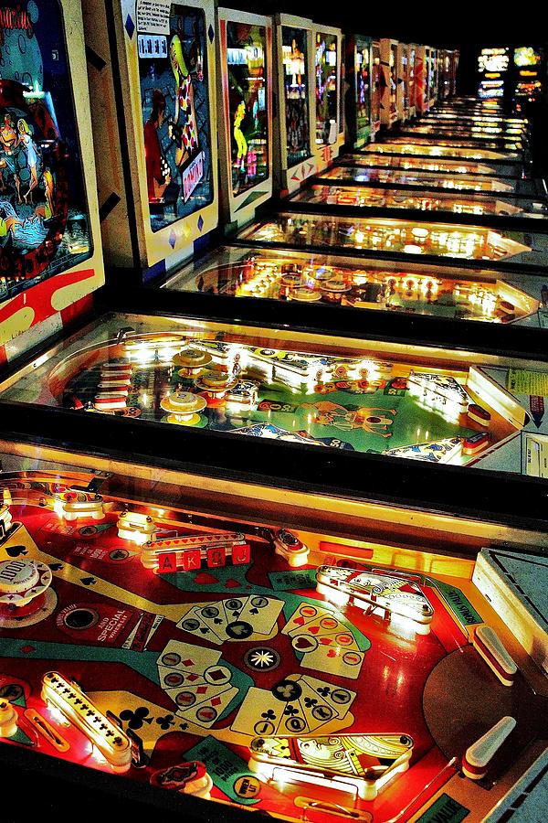 Pinball Photograph - Pinball Arcade by Benjamin Yeager