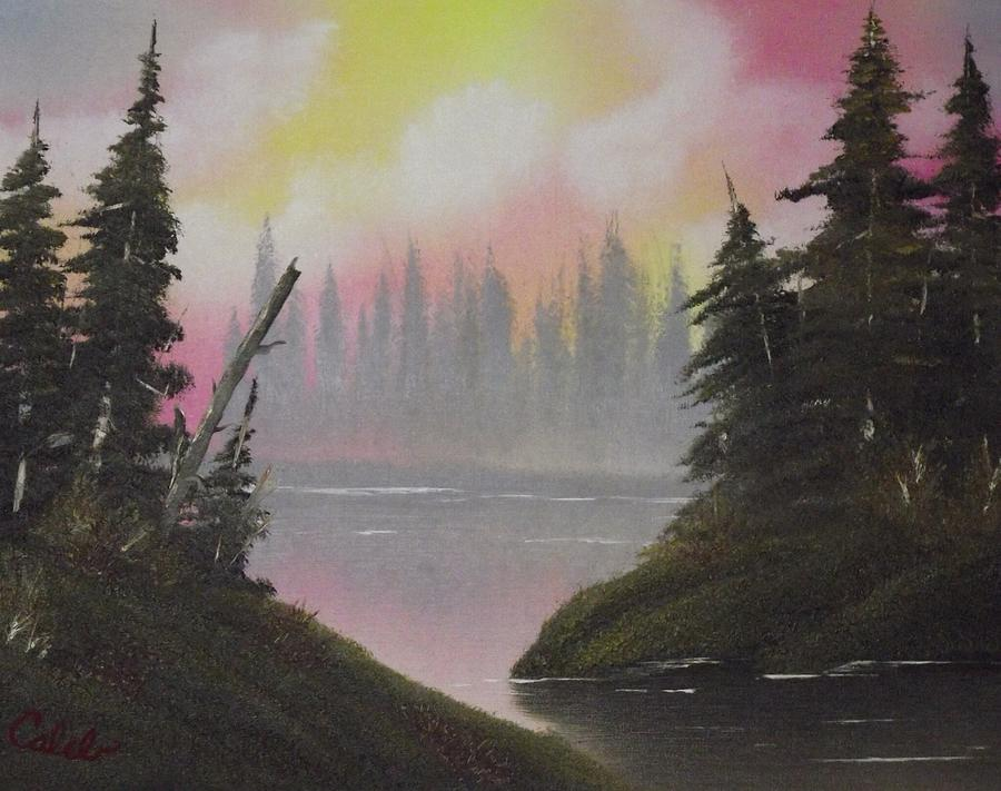 Landscape Painting - Pine Bay by Caleb Mitchell