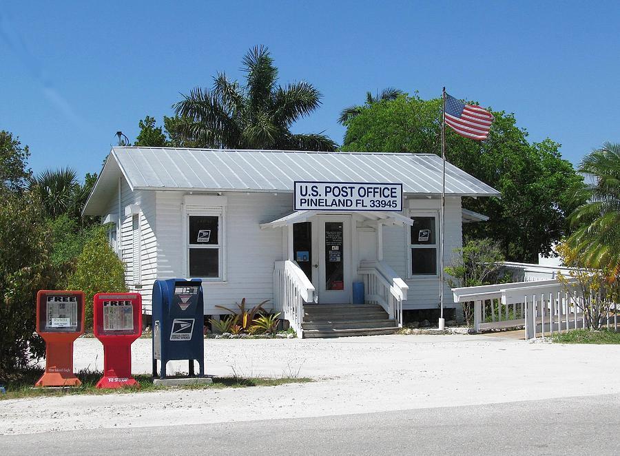 Post Offices Painting - Pine Island Post Office by Melinda Saminski