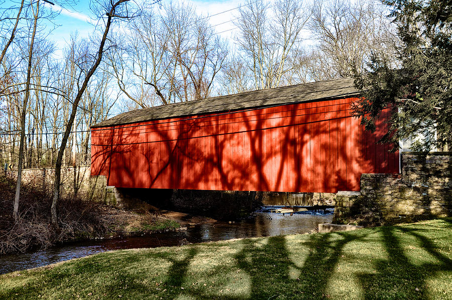 Pine Valley Covered Bridge in Bucks County Pa Photograph ...