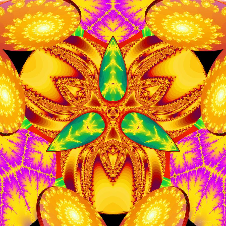 Sacredlife Mandalas Digital Art - Pineal Flux by Derek Gedney
