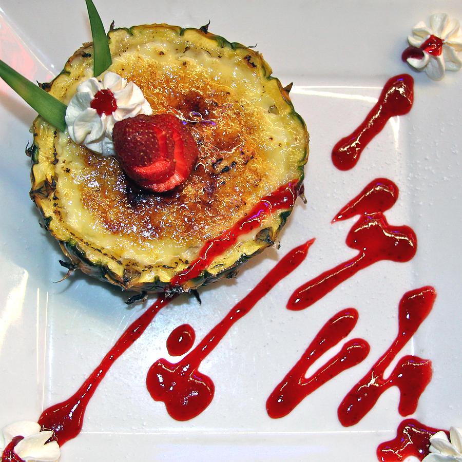 Dessert Photograph - Pineapple Creme Brulee Maui Style by Karon Melillo DeVega