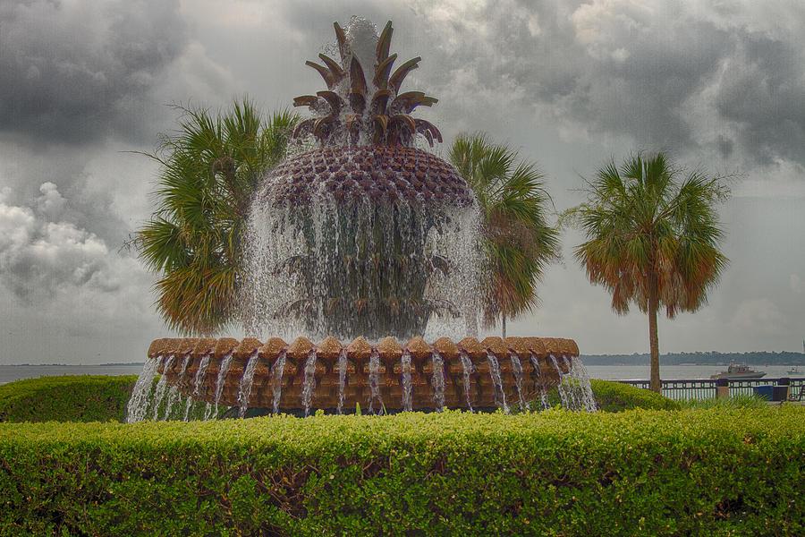 Charleston Photograph - Pineapple Fountain by Bill Barber
