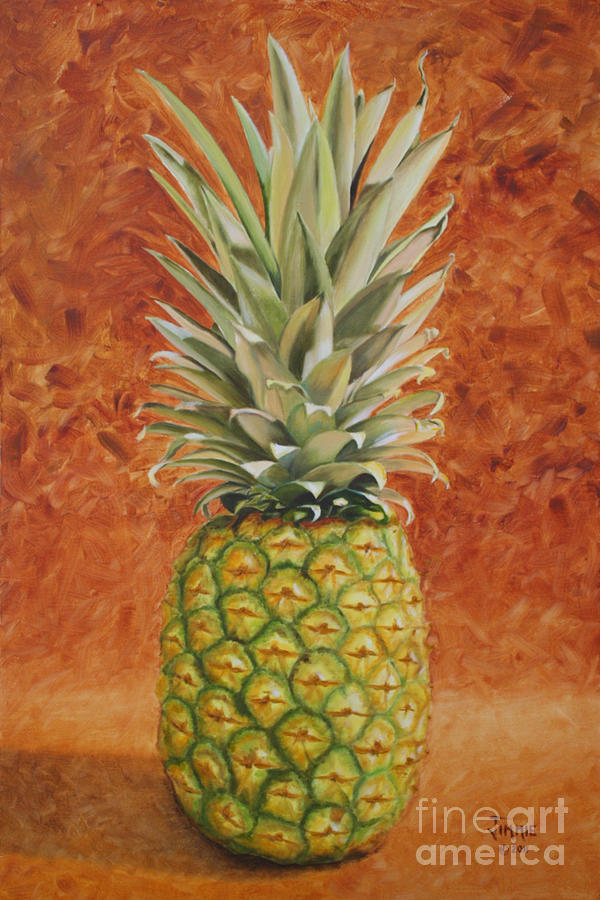 pineapple painting. Pineapple Painting - By Jimmie Bartlett