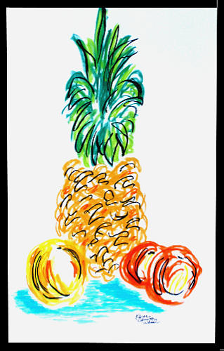 Pineapple Study No. 1 by Karen Camden Welsh