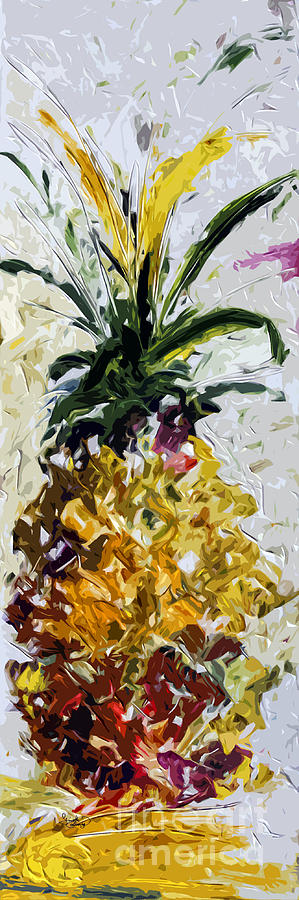 Pineapple Painting - Pineapple Triptych Part 2 by Ginette Callaway