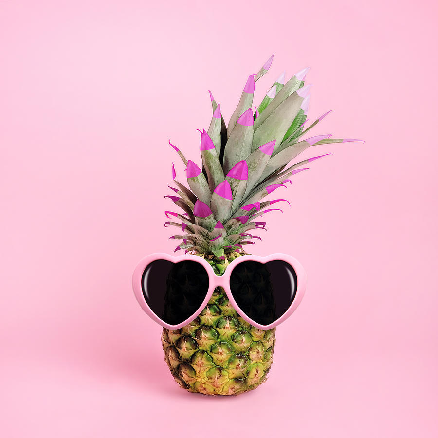 Pineapple Wearing Sunglasses Photograph by Juj Winn