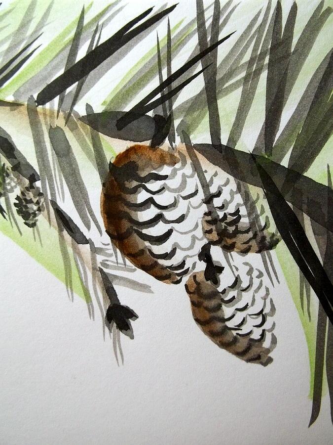 Pinecones Painting