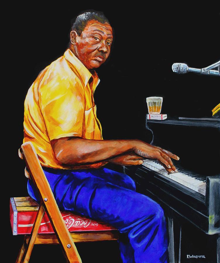 Pinetop Perkins Painting - Pinetop Perkins by Karl Wagner