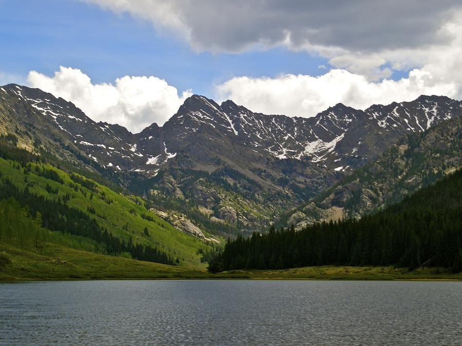 Blue And Green Photograph - Piney Lake Vail Colorado by Kristina Deane