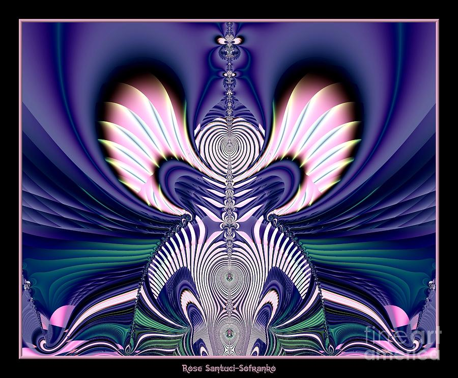 Guardian Angel Digital Art - Pink And Blue Guardian Angel Fractal 99 by Rose Santuci-Sofranko