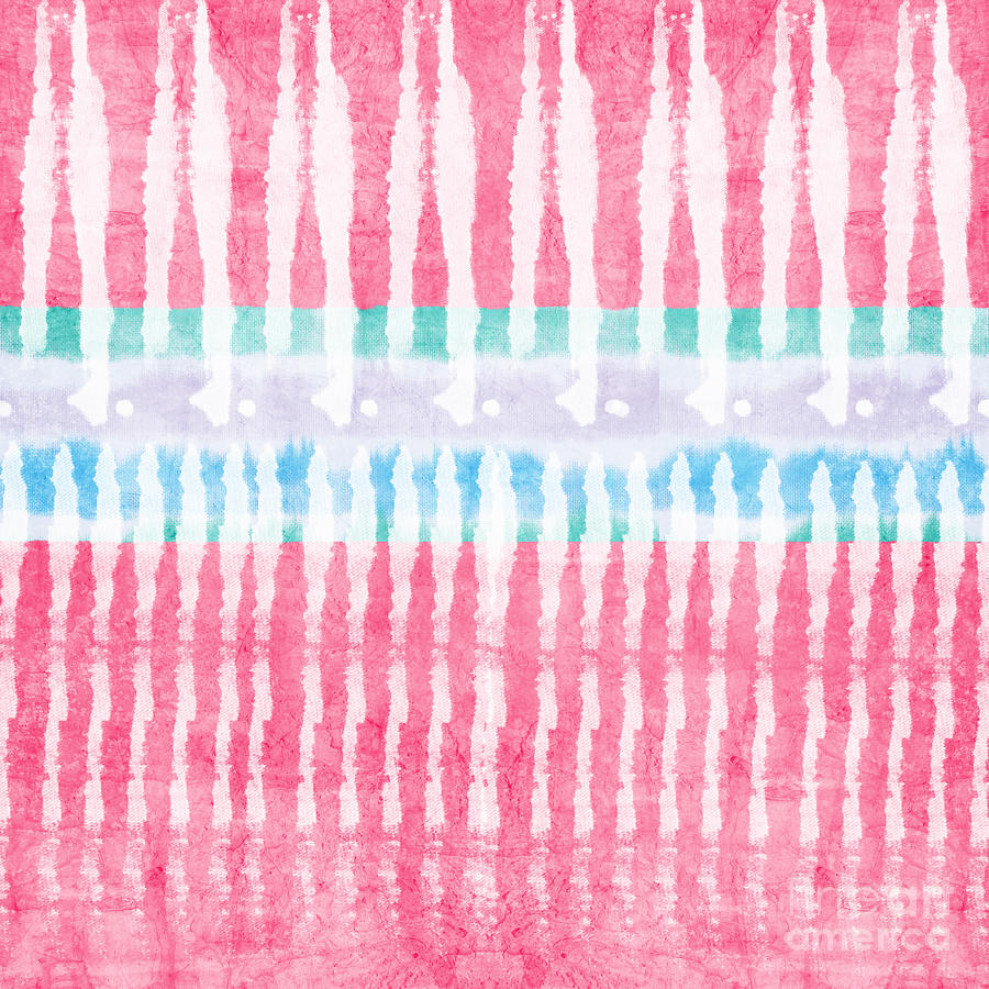 Pink And Blue Tie Dye Painting