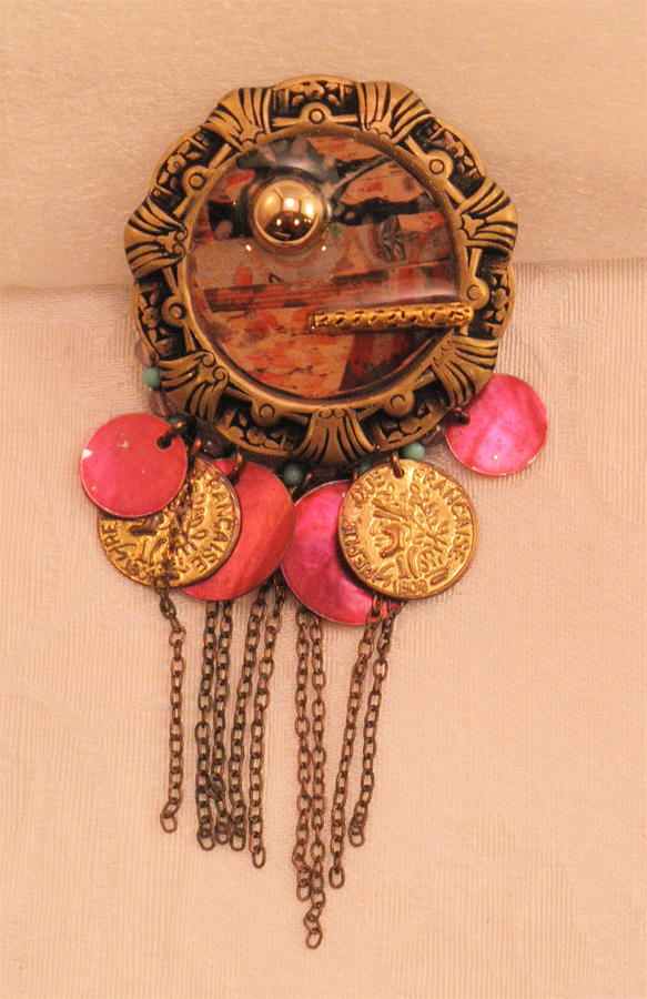 Pink and Blush Gypsy Pin by Outre Art  Natalie Eisen