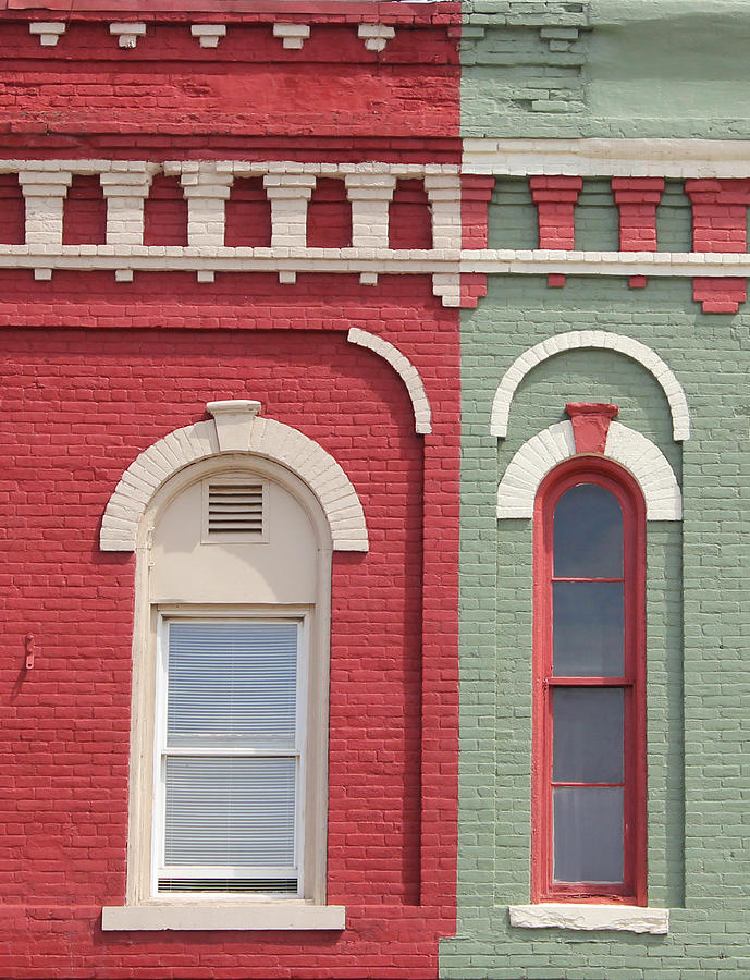 Historic Building Photograph - Pink And Green by Mary Bedy