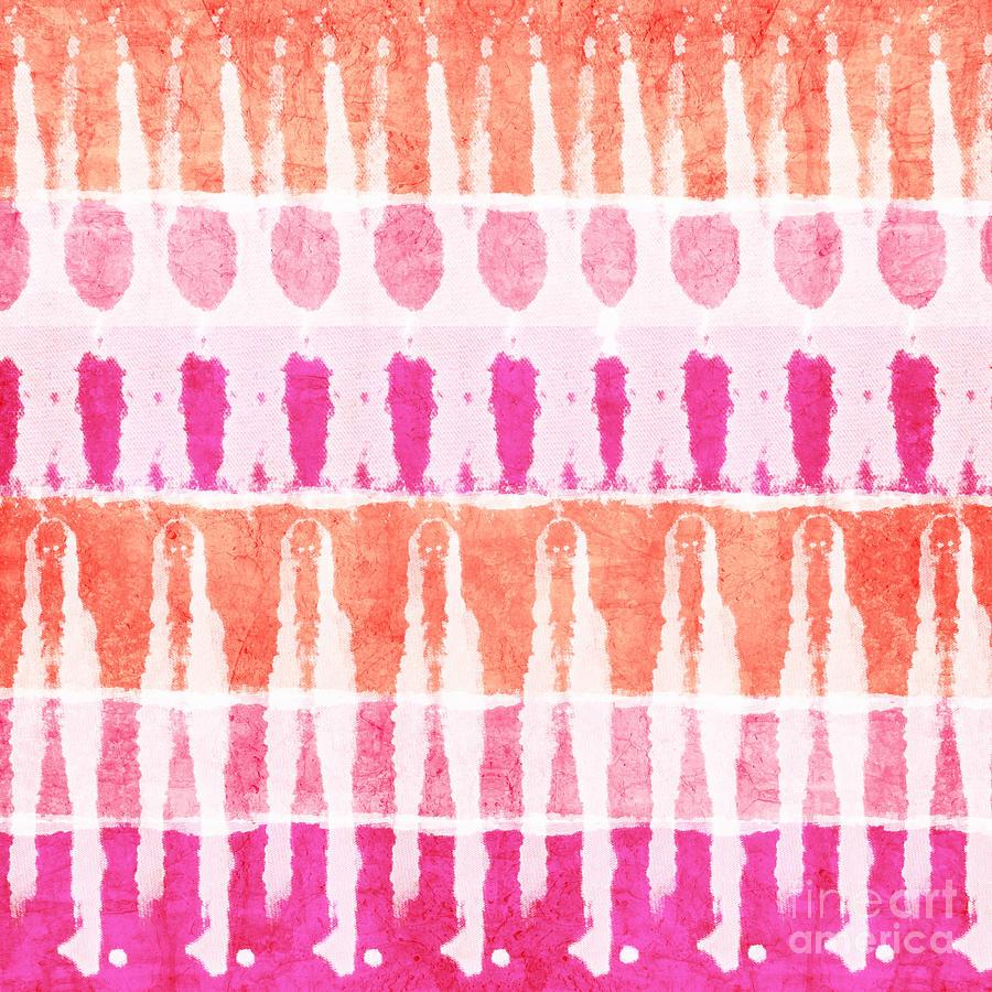 Pink Painting - Pink And Orange Tie Dye by Linda Woods