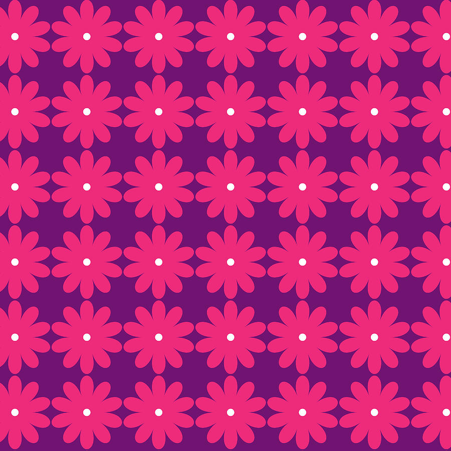 Pink And Purple Flowers Digital Art