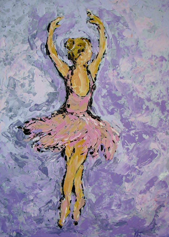 Ballet Painting - Pink Ballerina by Kat Griffin