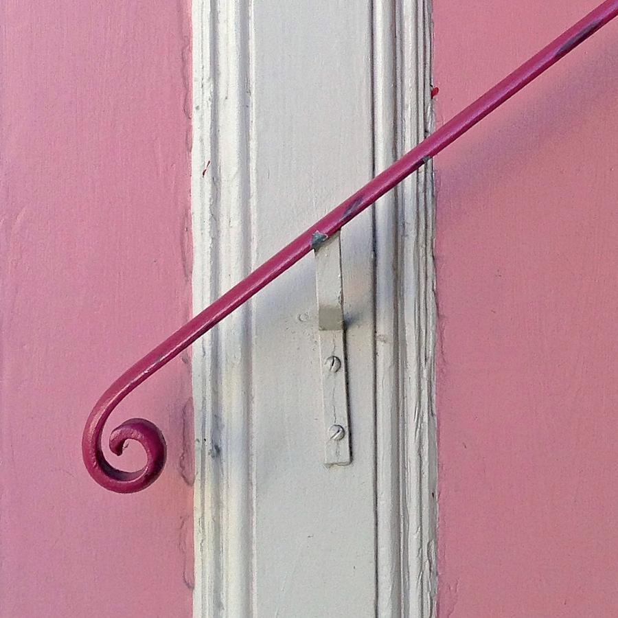 Bannister Photograph - Pink Bannister by Julie Gebhardt